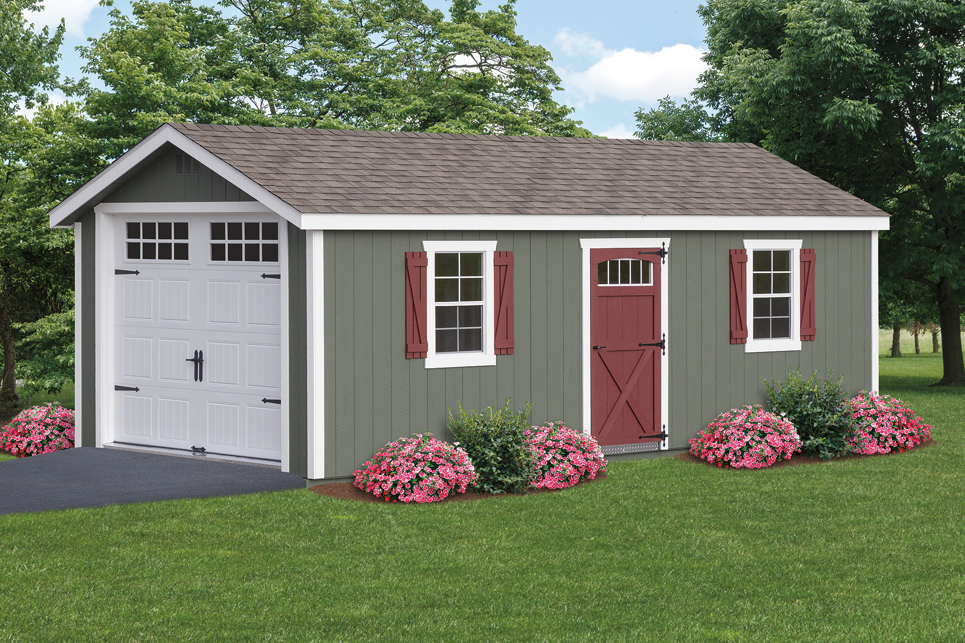 painted a frame garage backyard escapes