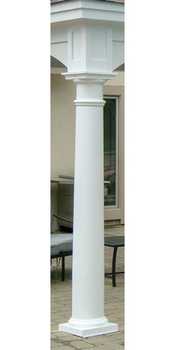 10″ Tapered Round Columns ($350 each)