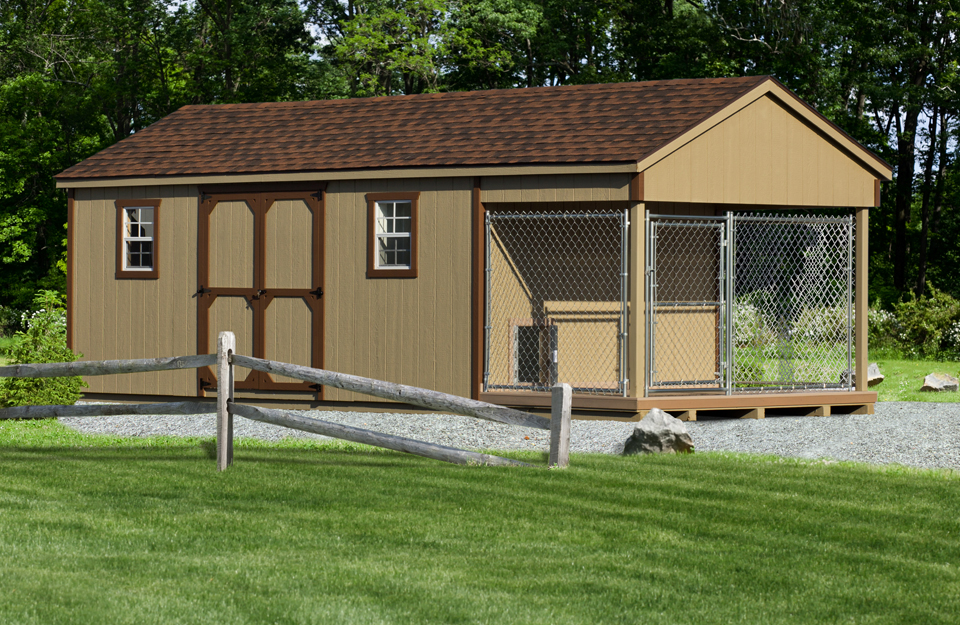 10×24 Standard Shed/Kennel Combo