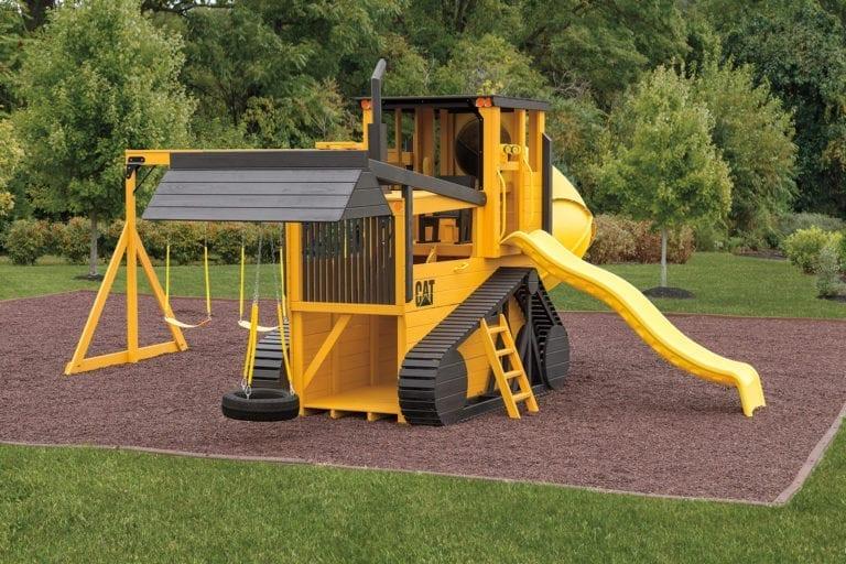 bulldozer-shaped playset