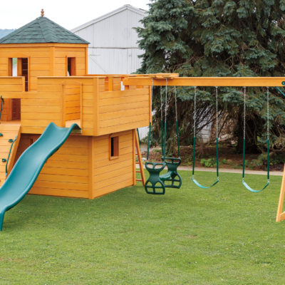 castle-shaped playset