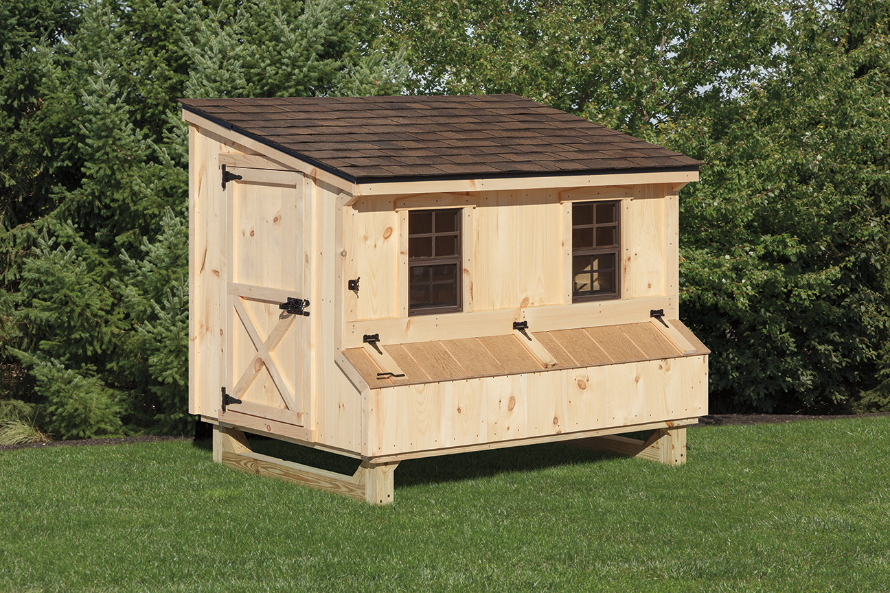 4 215 6 Lean To Style Chicken Coop Backyard Escapes