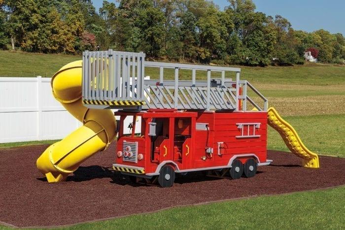 vinyl firetruck playset