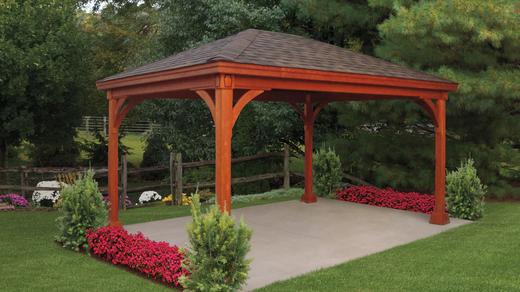 Keystone Style Wood Pavilion – Kit/Build on Site ...