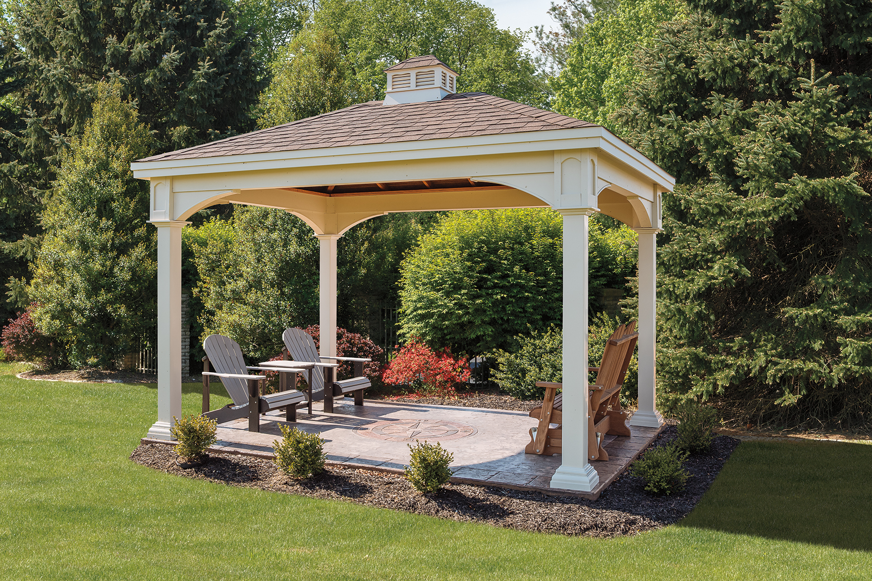 Manor Style Vinyl Pavilion - Kit/Build on Site | Backyard ...