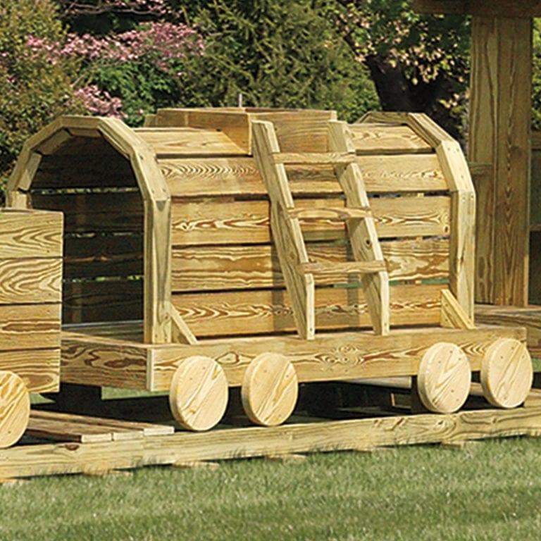 wooden train car