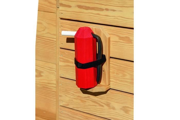 wooden fire extinguisher