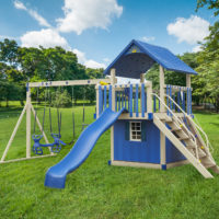 Front View of The Storm Chaser Vinyl Swingset