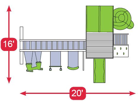 Layout Diagram of Safe Harbor Vinyl Swingset