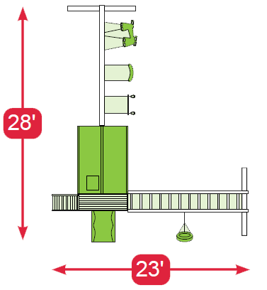 layout diagram of The Space Station Vinyl Swingset