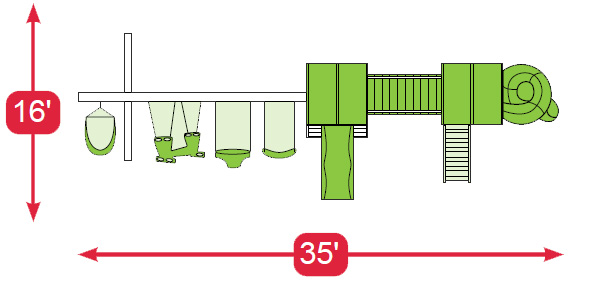 Layout Diagram of The Space Walk Vinyl Swingset