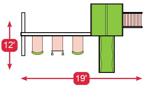 Layout Diagram of Teddy's Tower Vinyl Swingset