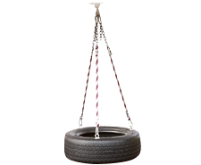3 Rope Tire Swing (Black Color Only)